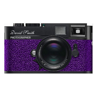 Photographer violet Business Double bed card Business Card Templates