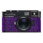 Photographer violet Camera Business card Tarjetas De Negocios