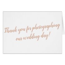 Photographer Wedding Thank You Card
