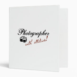 Photographer with Attitude 3 Ring Binder