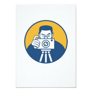 "Photographer With Camera Retro 4.5"" X 6.25"" Invitation Card"