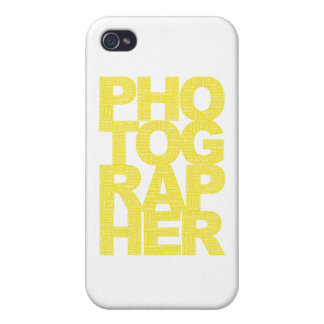 Photographer - Yellow Text iPhone 4/4S Covers