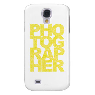 Photographer - Yellow Text Samsung S4 Case