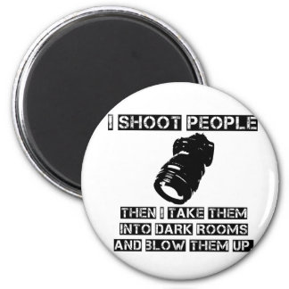 Photographers are So Violent 2 Inch Round Magnet