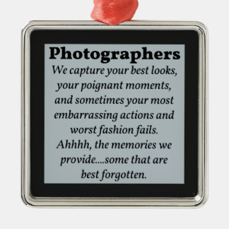 Photographers, Best Looks Metal Ornament