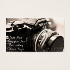 Photographer's Business Card at Zazzle