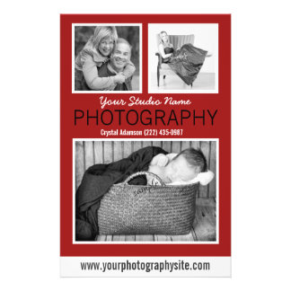 Photographer's Business Handout with Three Photos Flyer