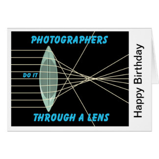 photographers do it thru a lens greeting card