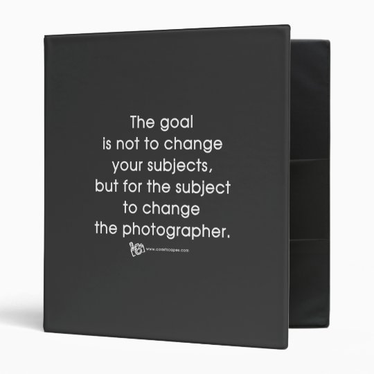 Photographer's Goal 3 Ring Binder