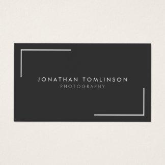 Photographers Modern and Minimal Frame Dark Gray Business Card