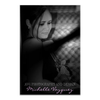 Photographers Portrait AVG Photography and Design Poster