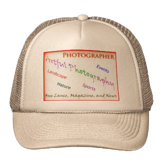 Photographers with transparent background trucker hat