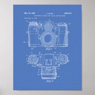 Photographic Camera 1959 Patent Art - Blueprint Poster