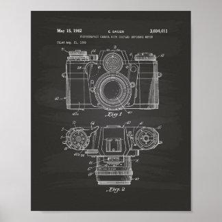 Photographic Camera 1959 Patent Art - Chalkboard Poster