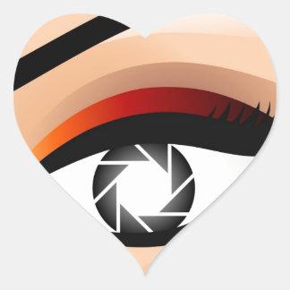 Photographic Eye Heart Sticker