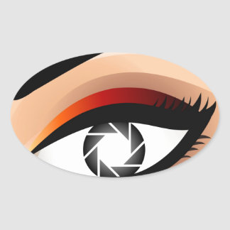 Photographic Eye Oval Sticker