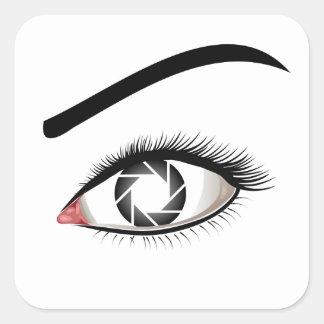 Photographic Eye Square Sticker
