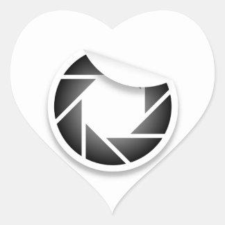 Photographic icon heart sticker