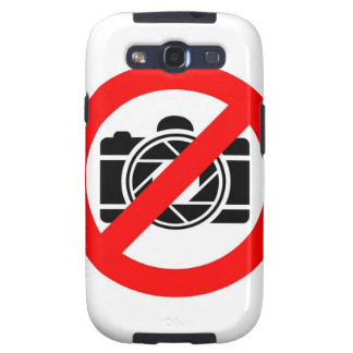 Photographic icon with red stop symbol samsung galaxy s3 cover