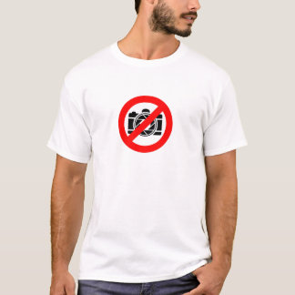 Photographic icon with red stop symbol T-Shirt