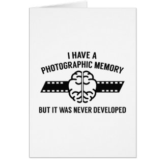 Photographic Memory Card