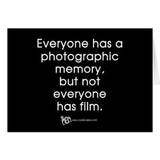 Photographic Memory Quote Card