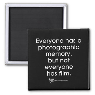 Photographic Memory Quote Refrigerator Magnets