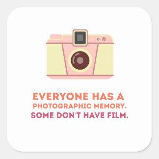Photographic Memory Square Sticker