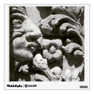 Photographic picture of carved stone, Alicante Wall Sticker
