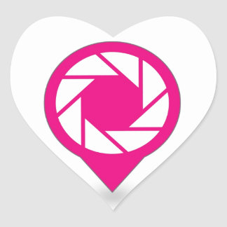 Photographic placement icon heart sticker