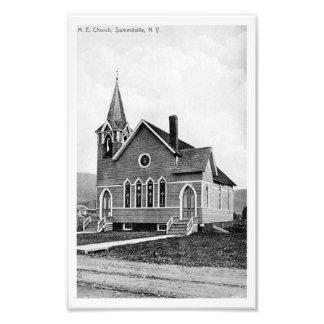 Photographic Print-Summitville 1915 Church