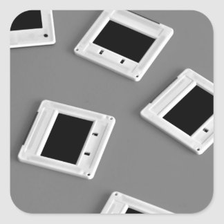 photographic slides with white border square sticker