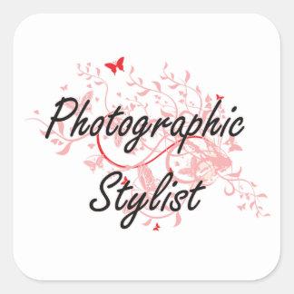 Photographic Stylist Artistic Job Design with Butt Square Sticker