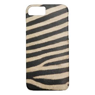 Photographic zebra , textured. iPhone 7 case