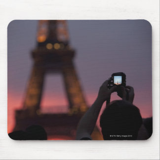 Photographing the Eiffel Tower with a smartphone Mouse Pad