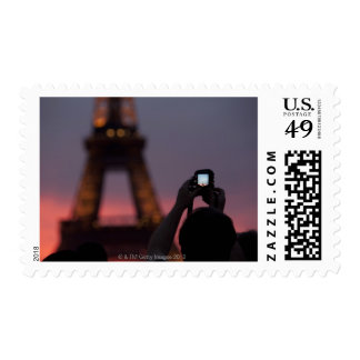 Photographing the Eiffel Tower with a smartphone Stamp