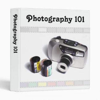 Photography 101 3 ring binder