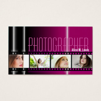 Photography 35mm Film Photo Business Card Berry