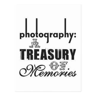 Photography A Treasury of Memories Postcard
