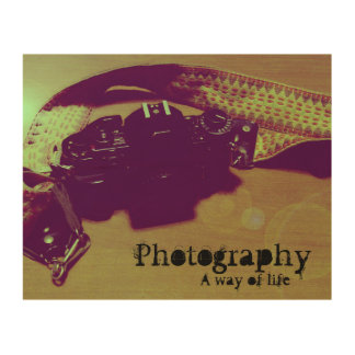 Photography (a way of life) wood wall decor