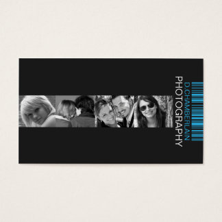 Photography and Barcode - Blue Business Card
