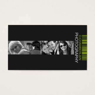 Photography and Barcode - Green Business Card