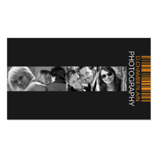 Photography and Barcode - Orange Business Card