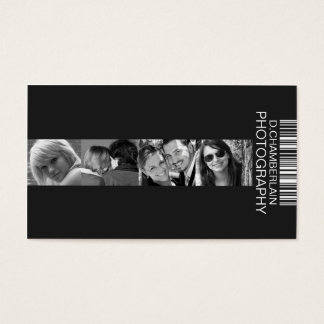 Photography and Barcode - White Business Card