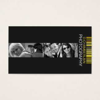 Photography and Barcode - Yellow Business Card