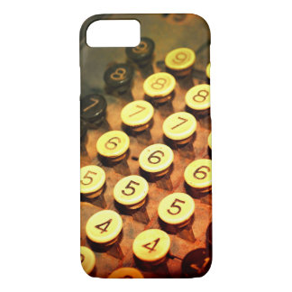 photography  antique adding machine keys iPhone 7 case