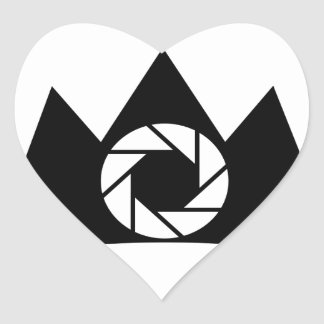 Photography aperture on a crown heart sticker