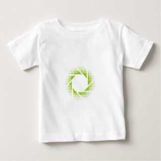 Photography aperture with halftone pattern baby T-Shirt