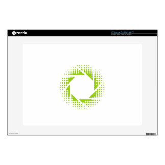 Photography aperture with halftone pattern laptop skins
