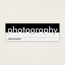 photography appointment card